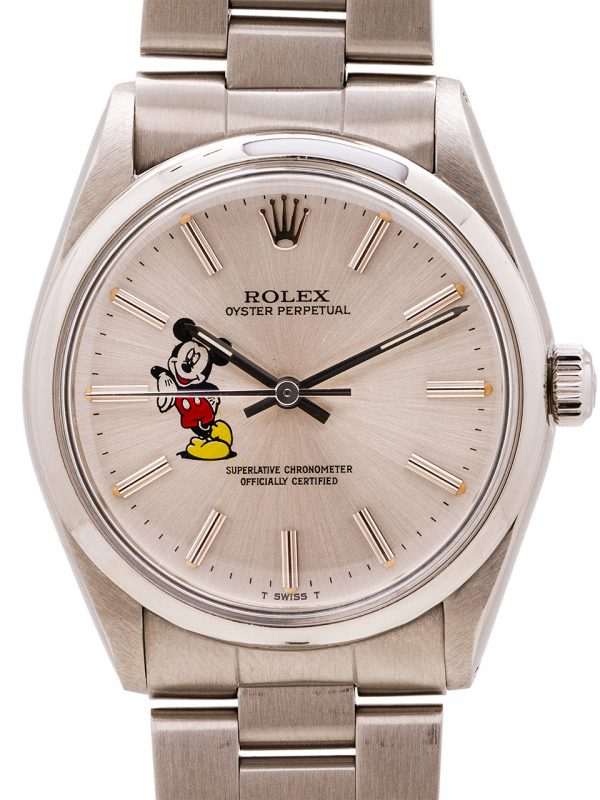 Rolex Airking ref # 5500 custom Mickey Mouse circa 1987