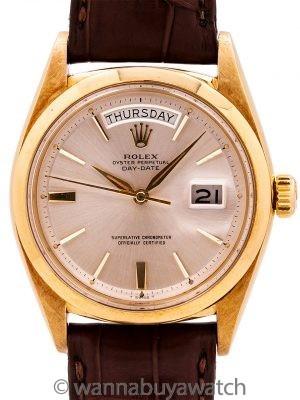 Rolex 18K YG Day Date Rare ref# 1802 circa 1961