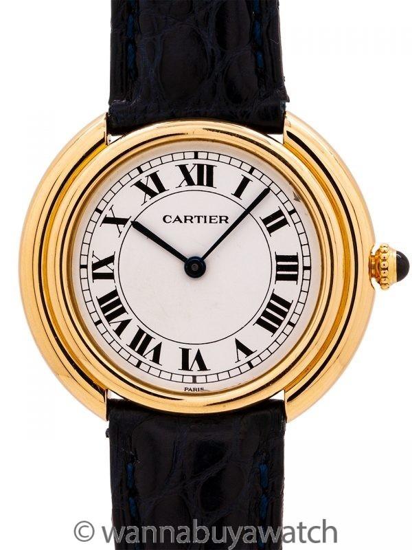 Cartier Vendome Tank 18K YG circa 1980's