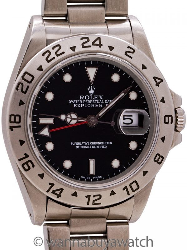 Rolex Explorer II ref 16570 Stainless Steel circa 2002 Box & Papers