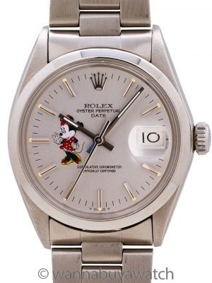Rolex Oyster Perpetual Date ref# 1500 Minnie Mouse circa 1967