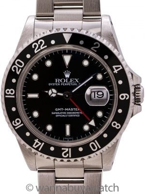 Rolex GMT Master I ref 16700 circa 1999 SWISS Only Papers