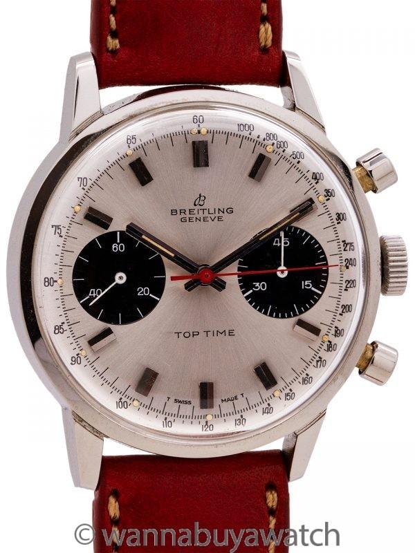 Breitling Geneve Top Time Panda Chronograph circa 1970