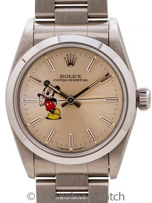 Rolex Oyster Perpetual Midsize ref 67480 Mickey Mouse circa 1995