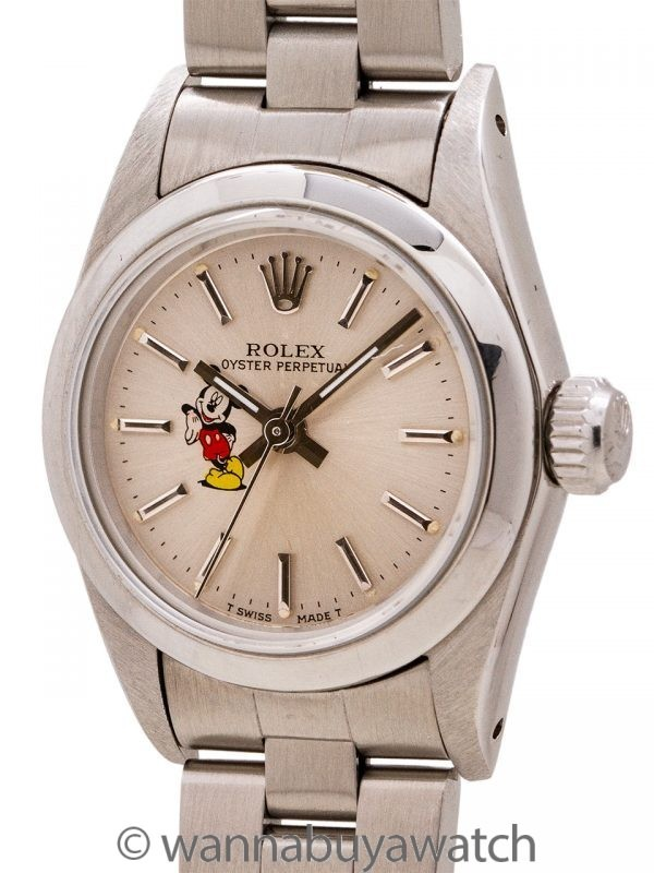 Lady Rolex Oyster Perpetual ref 67180 Mickey Mouse circa 1985