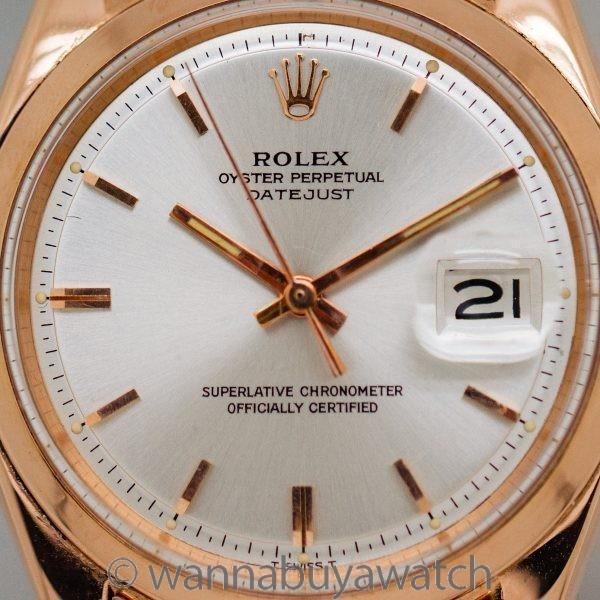 Rolex SS Datejust ref 1601 18K PG circa 1967