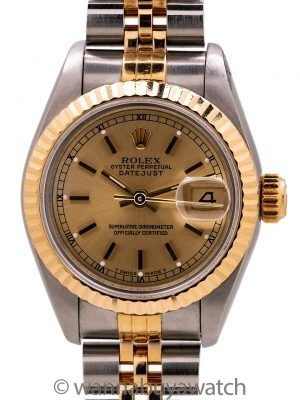 Lady Rolex Datejust SS/18K YG ref. 69173 circa 1993