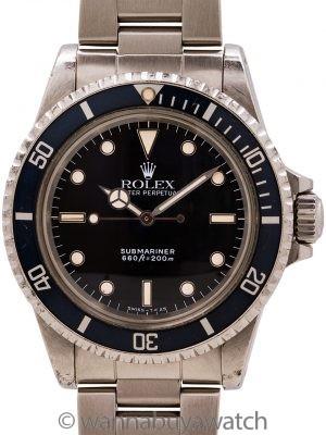 Rolex Submariner ref 5513 L serial # circa 1988