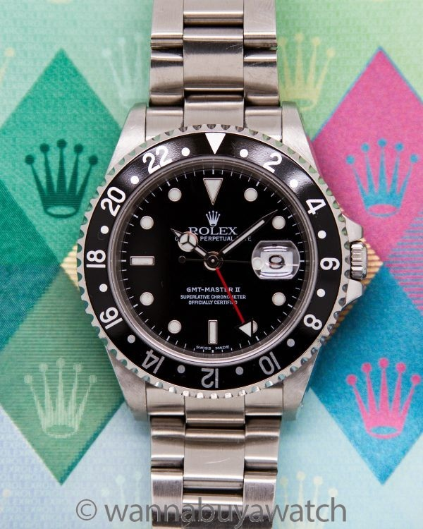 Rolex GMT II ref 16710 circa 2003 with Papers & Booklet