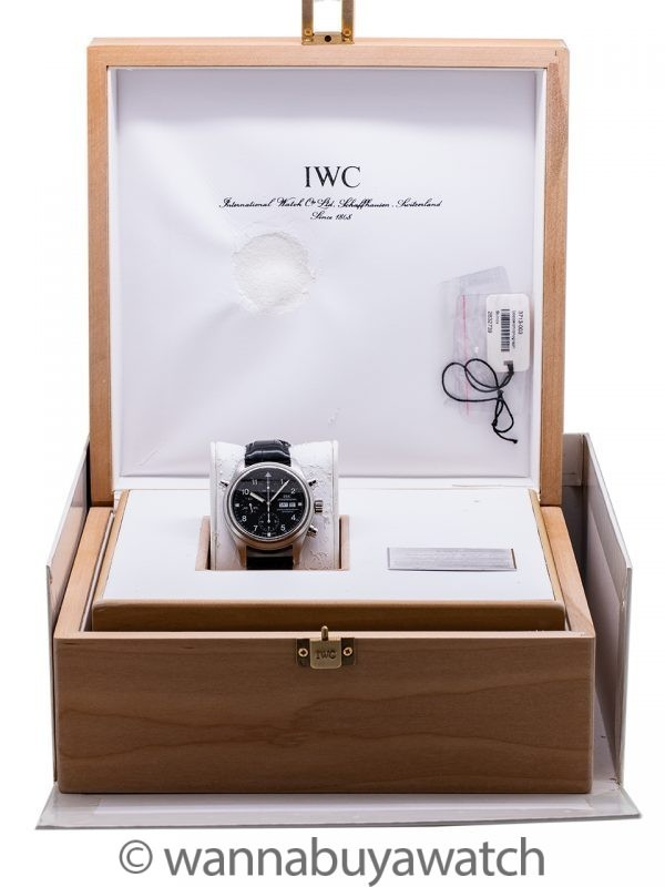 IWC Doppell Chronograph ref 3713 circa 2001 Box and Papers