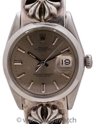 Rolex Oyster Perpetual Date ref 1500 Chrome Hearts Bracelet circa 1964