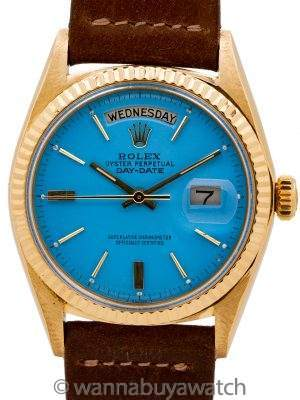 Rolex President ref 1803 18K YG Custom Colored Dial circa 1961