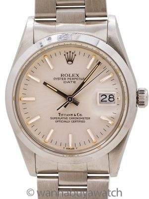 Rolex Oyster Perpetual Date ref 15000 Tiffany & Co. circa 1982