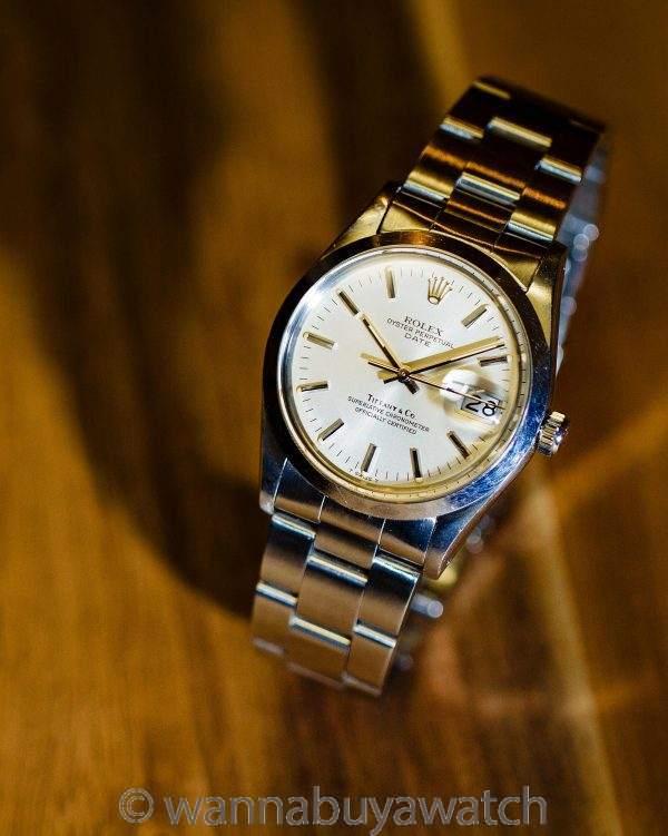 Rolex Oyster Perpetual Date ref 15000 Tiffany & Co. circa 1982