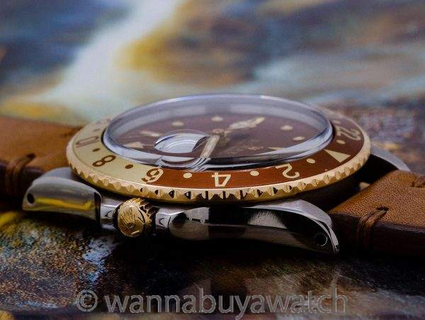 Rolex GMT ref 1675 SS/14K YG Chocolate Dial circa 1972