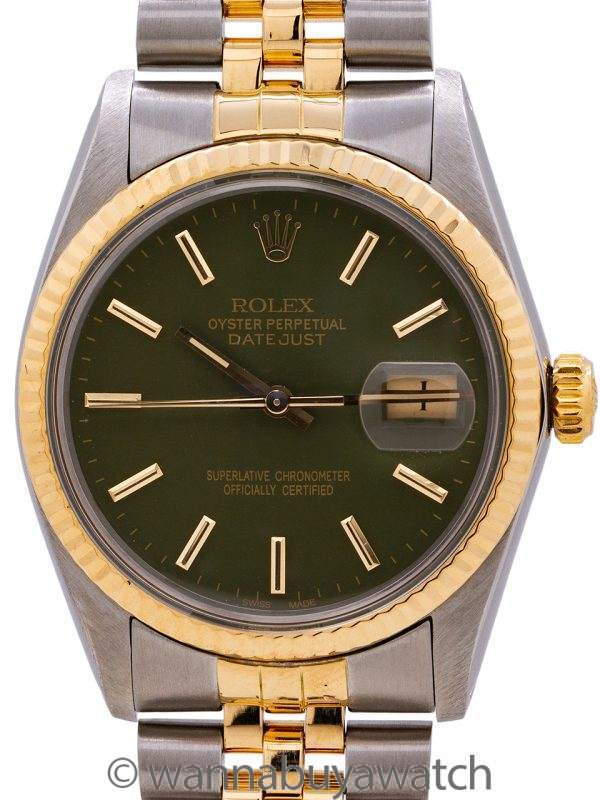 Rolex Datejust ref# 16013 SS/18K YG circa 1983
