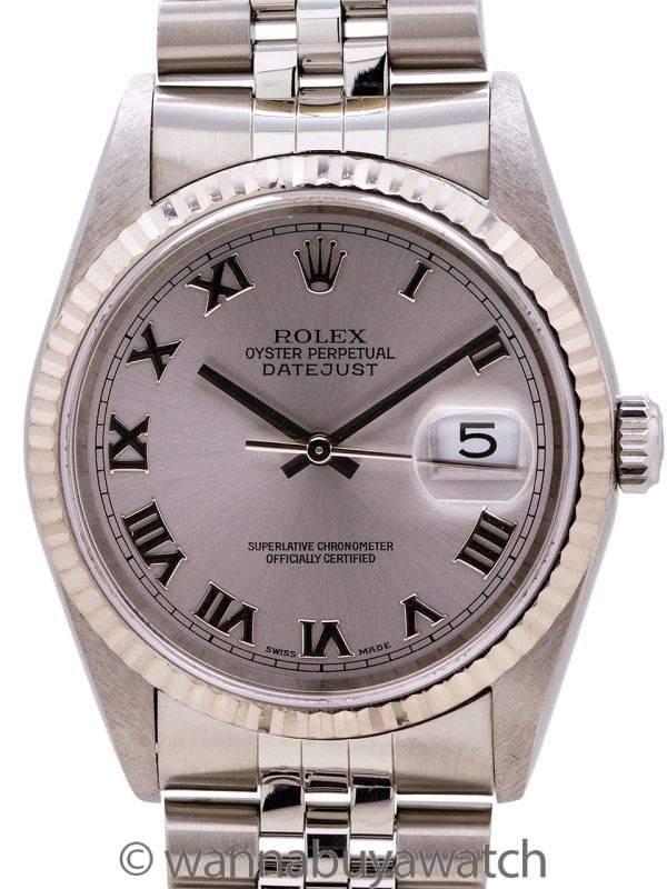 Rolex Datejust ref# 16234 SS/18K WG circa 2002