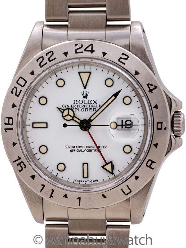 """Rolex Explorer II ref 16570 """"Polar"""" Patina'd Tritium Dial circa 1991"""