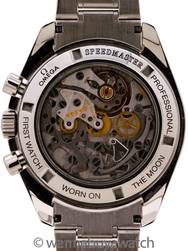 Omega Speedmaster Man on the Moon ref 3572.50 Display Back Tritium circa 1997