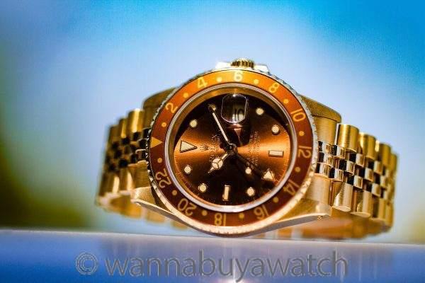 Rolex 18K YG GMT II ref 16718 circa 1987