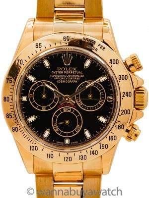 Rolex Daytona ref 116528 18K YG circa 2004 Box & Papers