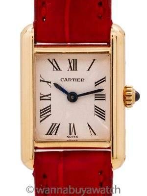 """Cartier Lady """"Mini"""" Tank Louis 18K YG circa 1980's"""