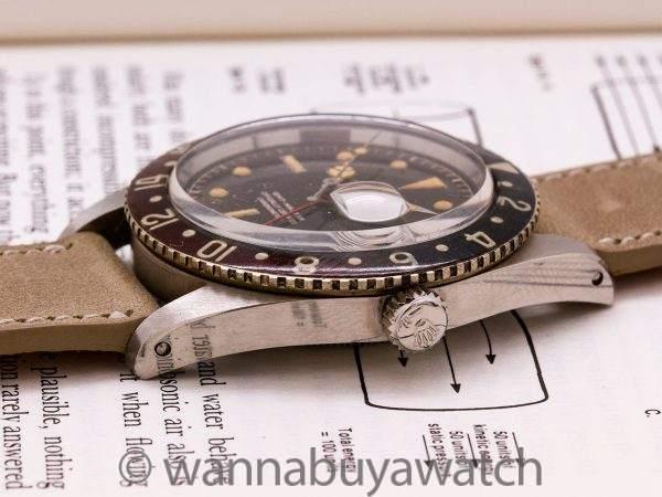 Rolex GMT ref 6542 Original Bakelite Bezel circa 1959