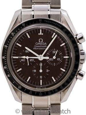 "Omega Speedmaster Man on the Moon ""Chocolate"" Display Back - Box and Papers"
