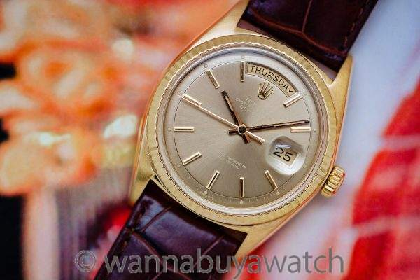 Rolex Day Date ref 1803 18K YG Original Taupe Dial 1969