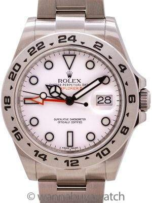Rolex Explorer II 42mm ref 216570 circa 2012 with Card