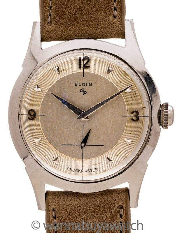 Elgin Shockmaster Stainless Steel circa 1950's