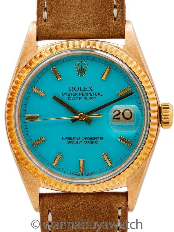 Rolex 18K YG Datejust ref 1601 circa 1970