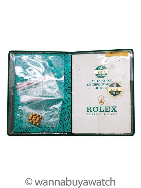 Rolex 18K YG Midsize President circa 1984 Papers