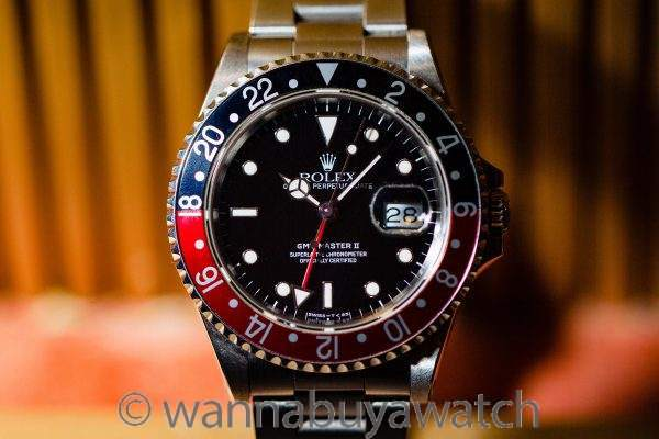 "Rolex GMT II ref 16710 ""Coke"" Tritium circa 1990"