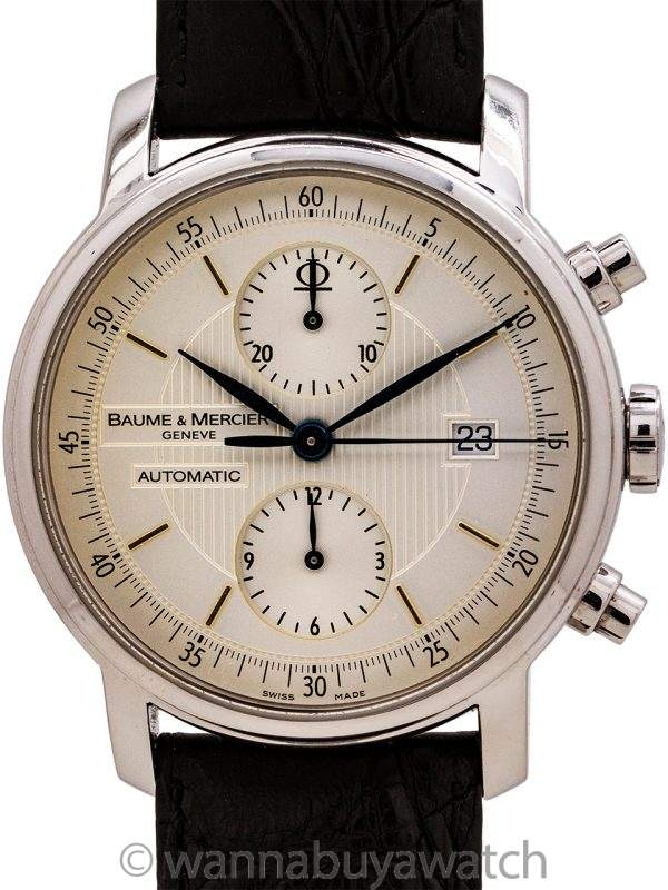 "Baume & Mercier SS ""Classima"" Chronograph circa 2005 Box & Papers"