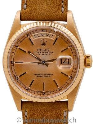 "Rolex Day Date 18K YG ref 18038 ""Tropical"" circa 1985"