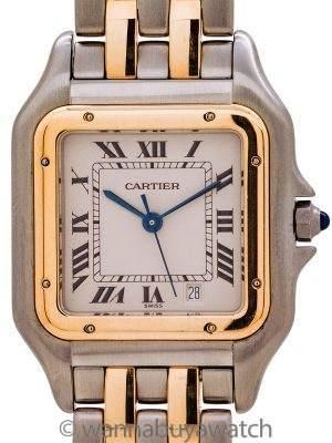 Cartier Man's Panther SS/18K YG circa 1980's Mint!