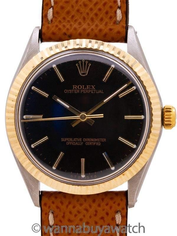 Rolex SS/14K YG Oyster Perpetual ref 1005 circa 1969