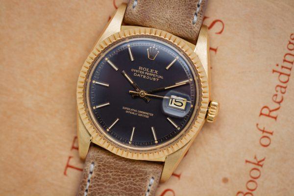 Rolex 18K YG Datejust ref 1601 Rare Chocolate Dial circa 1978