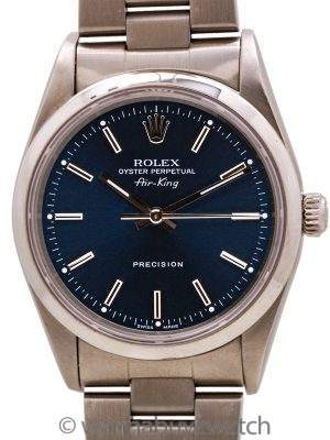 Rolex Air-King ref 14000M Blue Dial circa 1996