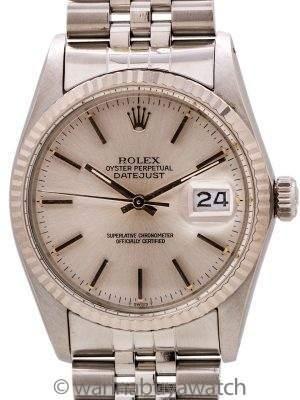 Rolex Datejust ref 16014 SS/18K WG circa 1985