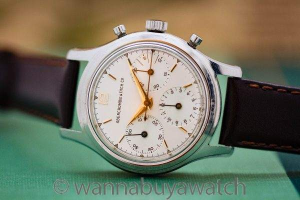 Heuer Abercrombie & Fitch ref# 2444 Chronograph circa 1950's