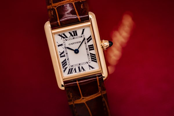 Cartier Lady's 18K Gold Tank Louis ref 2442 circa 2019 Box & Papers