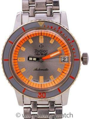 "Zodiac Sea Wolf ref 1781W ""Orange Blaze"" circa 1960's"