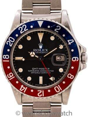 Rolex GMT ref 16750 Transitional Model circa 1982