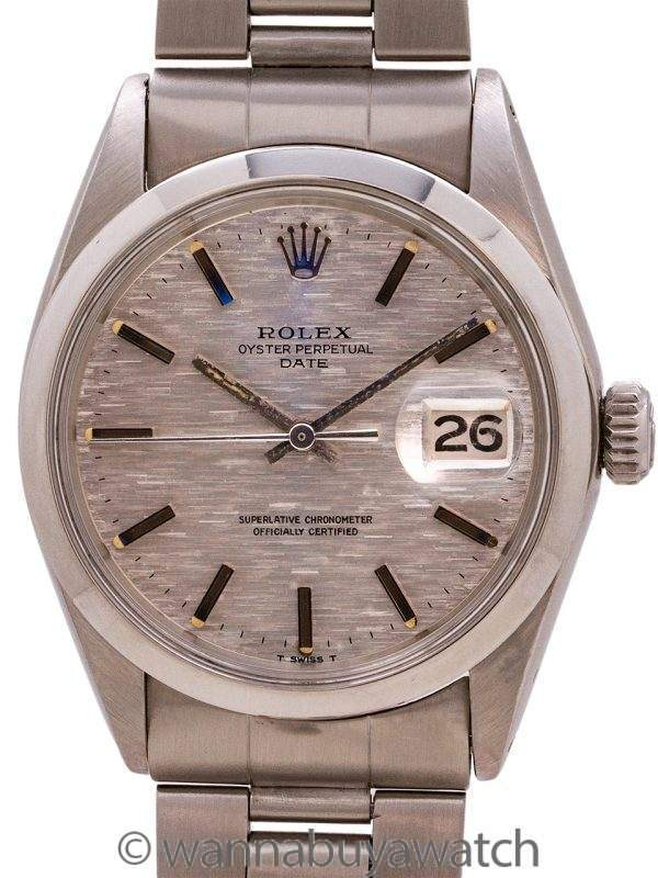 "Rolex Oyster Perpetual Date ref 1500 ""Mosaic"" Dial circa 1969"