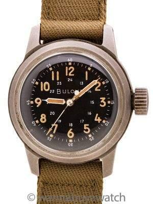 Bulova US Military Issue A17A circa 1950's 24 Hour Dial