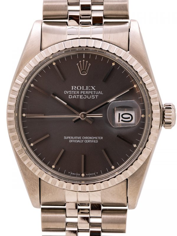 Rolex Datejust ref 16030 Grey Dial Quickset circa 1982