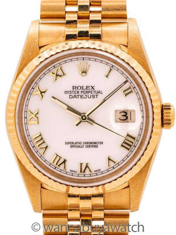 Rolex 18K YG Datejust ref 16238 circa 2004 with Papers