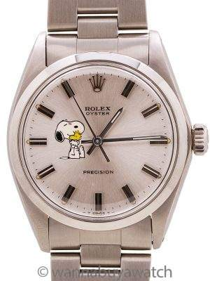 "Rolex SS Oyster Precision ref# 6426 ""Snoopy"" circa 1970"